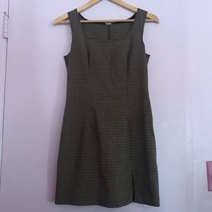 Vintage shift plaid dress